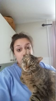 Alyssa & Biscuit Hug Your Cat Day, Biscuit, Cats, Animals, Gatos, Animales, Kitty Cats, Animaux, Biscuits