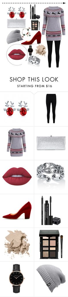 """""""Christmas night in🎉"""" by lara-fashion22 ❤ liked on Polyvore featuring Boohoo, Jimmy Choo, Lime Crime, Palm Beach Jewelry, Rupert Sanderson, Rodial, Bobbi Brown Cosmetics, Topshop, The North Face and Christmas"""