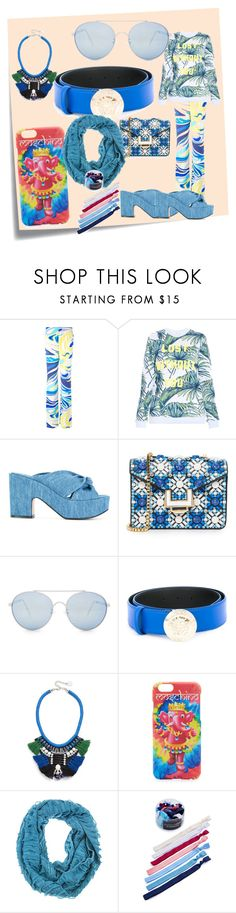 """""""fashion set"""" by denisee-denisee ❤ liked on Polyvore featuring Post-It, Emilio Pucci, Zoe Karssen, Robert Clergerie, MayraFedane, Quay, Versace, Adia Kibur, Moschino and Kitsch"""