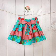 Girls skirt pattern pdf l Toddler ruffle skirt pattern l Easy