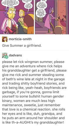 Omg yes yes yes.... - Summer Smith - Rick Sanchez - Rick and Morty - Cartoon - Comic