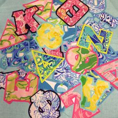 Designer Lilly Pulitzer greek iron on Sorority by LiLJsBoutique