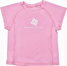 40% Off SALE Pink UV50+ Snapper Rock Girls Rash Top | Nipper Skipper