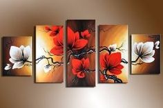 Cheap oil painting, Buy Quality paintings on canvas directly from China oil painting on canvas Suppliers: Large art handmade modern flower oil paintings on canvas, wholesale oil paintings oLo Oil Painting Flowers, Oil Painting Abstract, Abstract Flowers, Oil Paintings, Painting Walls, Painting Canvas, House Painting, Living Room Pictures, Wall Art Pictures