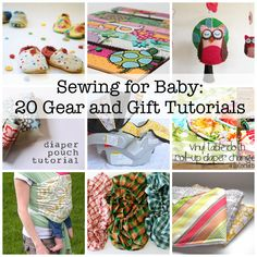 20 great baby DIY projects or gifts Sewing Hacks, Sewing Tutorials, Sewing Patterns, Free Tutorials, Sewing Ideas, Fabric Crafts, Sewing Crafts, Sewing Projects, Sewing For Kids