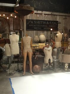 It's a mannequin party! Can you do the robot? @Michael Dussert Dussert Dussert Atkins Daddy's Antiques