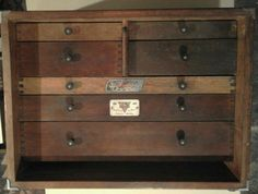 "Vintage toolmakers / engineers drawers/box ""Salmen Master Brand"" lovely patina"
