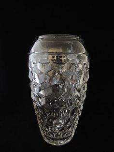 Large FOSTORIA American Vase 10 SUPERB    SIZE: 10 inches height, 18 around its widest point, 4 opening at top COMPOSITION: Elegant Glass