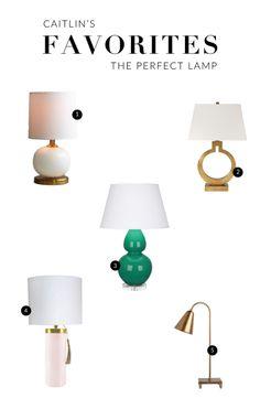 Caitlin Wilson: Caitlin's Favorites: Table Lamps