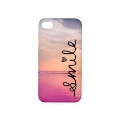 Coque pour téléphone «Smile» avec paysage marin pour iPhone 4 et 4S