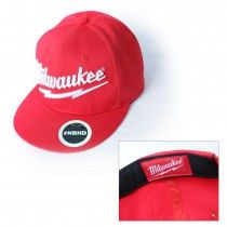 0fd92228 Red, flat bill cap with white Milwaukee® logo. Milwaukee Tool