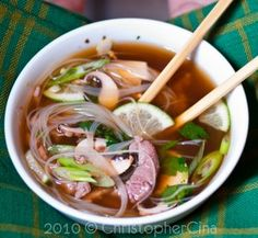 Not sure how authentic this is, but I want to try to make it. Sounds delish. Beef pho.
