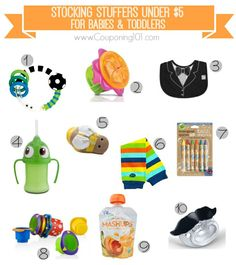 10 awesome stocking stuffer ideas for babies and toddlers -- all under $5 each!