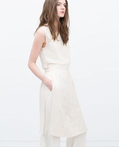 ZARA - NEW THIS WEEK - LONG EMBROIDERED WAISTCOAT WITH SLITS