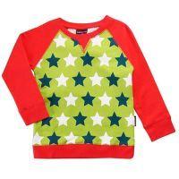 Sweater/Pulli Sterne grün, BIO