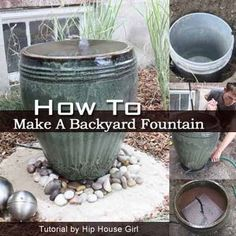 No One Thought She Could Make This Bubbling Fountain Until. - Find Out How This backyard fountain project provides DIY and results. Check out this tutorial on how to make an attractive bubbling backyard water fountain. [LEARN MORE] Backyard Water Fountains, Garden Water Fountains, Diy Fountain, Backyard Water Feature, Outdoor Fountains, Water Gardens, Outside Fountains, Homemade Water Fountains, Dog Water Fountain
