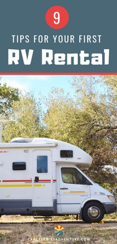 Renting an RV for a family vacation is a fun way to travel, whether you  rent a luxury RV or one of the other types of motor homes available for rental.  When it is time to plan your road trip and choose your rental, these are 9 things to consider first as you make your choices.  A road trip across America with kids is a fun, less expensive (though not cheap!) way to travel, so long as you set yourself up for camping and RVing success! #RVrental #RVing #familytravel #roadtrip
