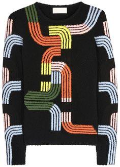 Peter Pilotto black boucle wool blend jumper