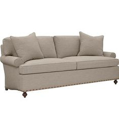 Silhouettes Sock Lawson Arm Sofa from the Silhouettes collection by Hickory Chair Furniture Co. - similar to mine without nailhead