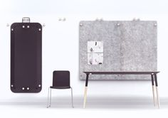 Furniture concept to the competition of KinnarpsTarget place: Moholy - Nagy University of Art and Designwith Zsófia Moholy Nagy, Empty Room, Furniture Design, Behance, Projects, Home Decor, Table, Log Projects, Blue Prints