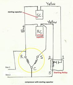 air compressor capacitor wiring diagram before you call a - 28 images - wiring diagram for air compressor wiring diagram with, dual capacitor motor wire diagram wiring diagram air compressor capacitor wiring wiring diagram schemes, air compressor cap Basic Electrical Wiring, Ac Wiring, Electrical Circuit Diagram, Electrical Projects, Electrical Engineering, Electronic Engineering, Hvac Air Conditioning, Refrigeration And Air Conditioning, Pioneer Stereo