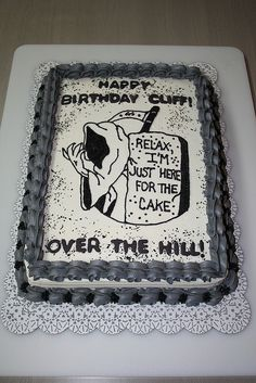 "Fun Over the Hill cake for that oh so ""mature"" person in your life -- Over The Hill Party Ideas"