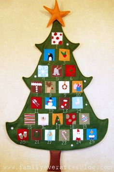 Christmas Advent Calendar Tutorial - A Pottery Barn Knock Off from Family Ever After - so cute! #christmas #advent