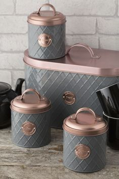 You can select from - Tea, Sugar, Coffee Canister or Bread Bin. Attractive, on trend copper lid with badge detail to add a hint of glamour. Carpet & Rugs. Kitchen & Cooking. Storage Solutions. Woodluv MDF Freestanding Bedroom Bathroom Hallway Tall Boy Cupboard Storage Unit. | eBay! Sugar Storage, Tea Storage, Storage Canisters, Cupboard Storage, Kitchen Storage, Coffee Station Kitchen, Home Coffee Stations, Kitchen Jars, Kitchen Decor