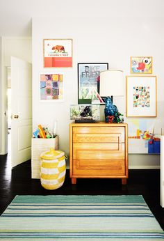Play room with colorful art