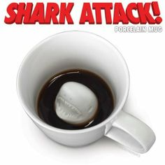 Accoutrements Shark Attack Porcelain Mug -- attack your morning coffee this Shark Week $8.84