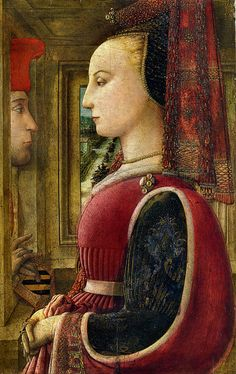 Fra Filippo Lippi - 1406-1469 - portrait of a man and a woman, c.1440