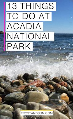 Head to my favorite US national park of all time - Acadia National Park in Maine. If its beauty doesn't convince you, then maybe my list of 13 things to do in Acadia National Park, will! Maine Road Trip, Camping In Maine, Travel Maine, Road Trips, Canada Travel, Canada Cruise, Beach Camping, Usa Travel, Acadia National Park Camping