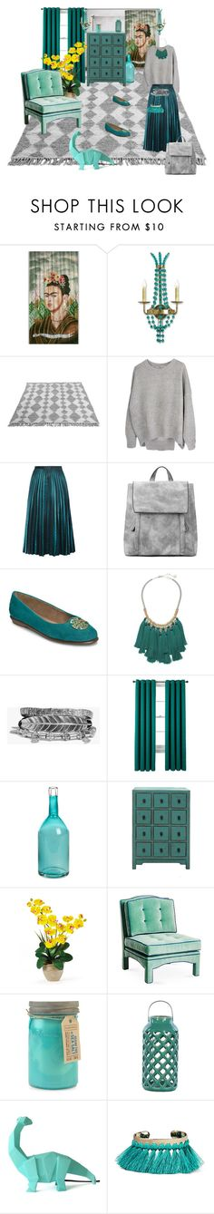 """Teal and grey/ Dear Frida"" by teresa-ramil ❤ liked on Polyvore featuring Aerosoles, French Connection, Boohoo, Studio by JCP Home, Pols Potten, Paddywax, Urban Trends Collection, Disaster Designs and Etro"