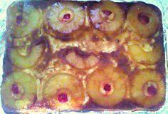 Mom's homemade pineapple upside down cake