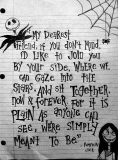 Will you be the Jack to my Sally?