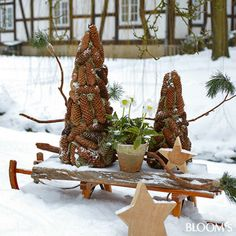 Garten Winter Dekoration