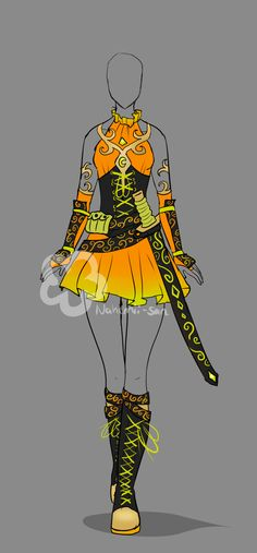 Fantasy Outfit #5 - Auction open by Nahemii-san.deviantart.com on @DeviantArt