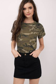 """Search """"Vanessa Camo Distressed Tee"""" on Tobi.com! shop buy cheap inexpensive ideas chic fashion style fashionable stylish comfy simple chic essential capsule Basic outfit simple easy trendy ideas for women teens cute college fall winter summer spring outfit outfits comfortable shorts work school classy everyday business"""