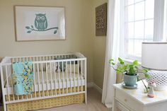 neutral walls let turquoise and yellow be boy OR girl friendly