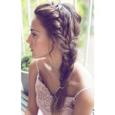 10 Easy Summer Braids found on Polyvore featuring beauty products, haircare, hair styling tools, hair and hairstyles