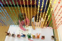 Drawing under our rainbow or colour @ New Horizons Preschool