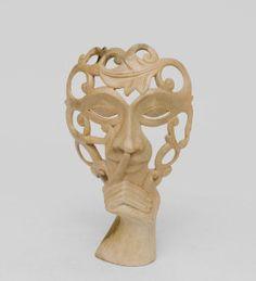 """Маска """"Секрет красоты"""", арт. 402805 Размер:25 смМатериал:деревоПроизводство:Индонезия"""