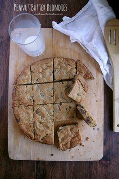 Peanut Butter Blondies from JensFavoriteCookies.com