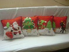 Resultado de imagen para cojines de navidad Christmas Cushions, Christmas Napkins, Christmas Applique, Christmas Pillow, Christmas Time, Vintage Christmas, Christmas Crafts, Xmas Eve Boxes, Xmas Cross Stitch