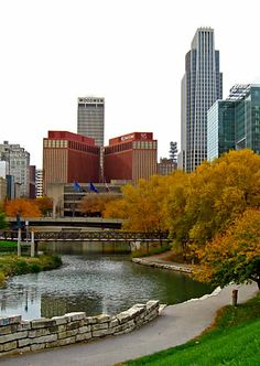 Gene Leahy Mall in Downtown Omaha Nebraska hometown love. Can't wait to see this again next weekend!