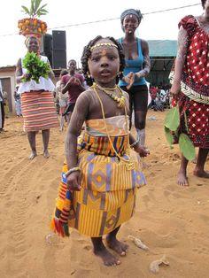 Nzema  tribe girl from Grand Basam, Ivory Coast                    at Abissa festival.