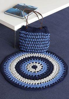 Big Ribbon or Big Ribbon Plus Crochet Mat & Bag Crochet Mat, Crochet Home, Crochet Fashion, Crochet Accessories, Clutch Purse, Lana, Ribbon, Kids Rugs, Colours