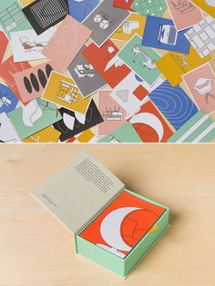 The design agency created postcards, notebooks and concertina books to accompany 'Mid-Century Modern Complete', the definitive survey of the popular design period.