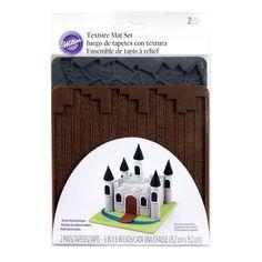 Wilton® Texture Mat Set, Stone/Wood