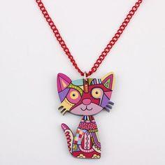 unique design happy cat necklaces & pendant